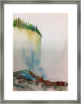 Woodland Trees On A Cliff Edge Framed Print