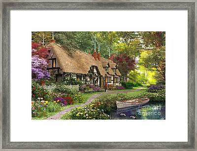Woodland Walk Cottage Framed Print by Dominic Davison