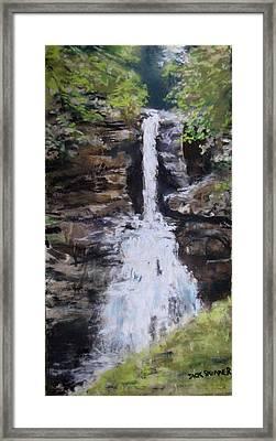 Woodland Waterfall Framed Print by Jack Skinner