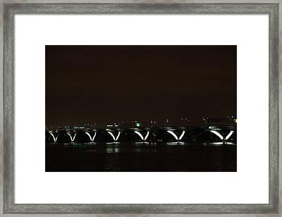 Woodrow Wilson Bridge - Washington Dc - 011310 Framed Print