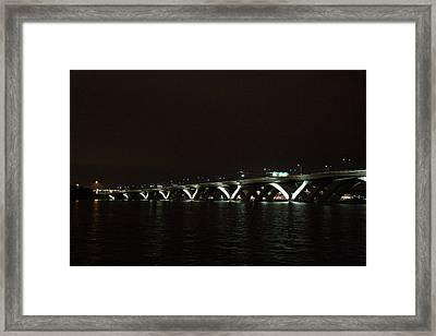 Woodrow Wilson Bridge - Washington Dc - 011339 Framed Print by DC Photographer