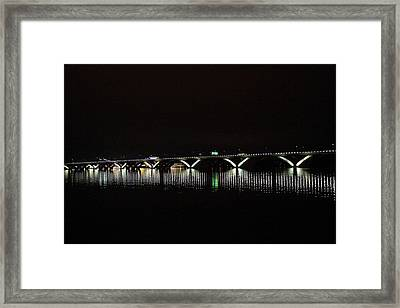 Woodrow Wilson Bridge - Washington Dc - 011346 Framed Print