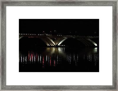 Woodrow Wilson Bridge - Washington Dc - 011349 Framed Print
