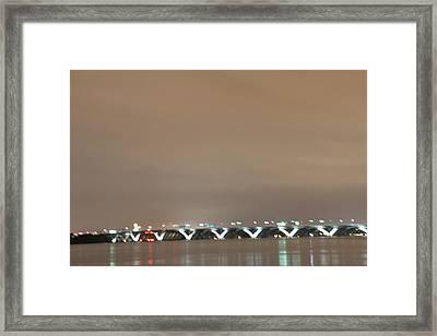 Woodrow Wilson Bridge - Washington Dc - 01135 Framed Print