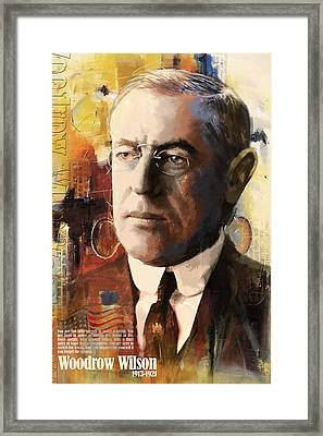 Woodrow Wilson Framed Print by Corporate Art Task Force