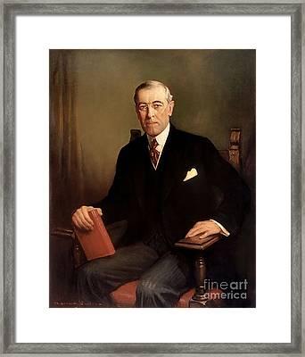 Woodrow Wilson Framed Print