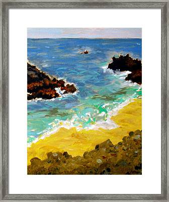 Woods Cove Seascape Laguna Beach California Framed Print