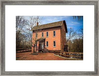 Wood's Grist Mill In Deep River County Park Framed Print by Paul Velgos
