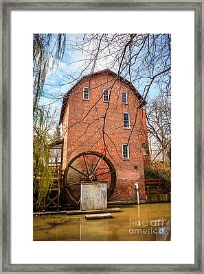 Wood's Grist Mill In Northwest Indiana Framed Print by Paul Velgos