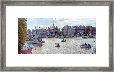 Framed Print featuring the photograph Woods Hole Harbor by Constantine Gregory