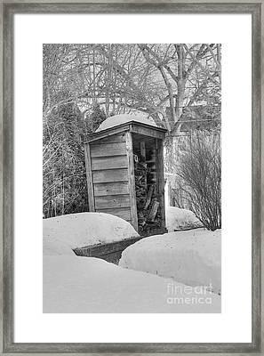 Woodshed Framed Print by David Bearden