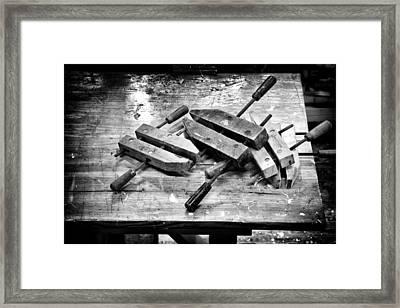 Woodshop Framed Print