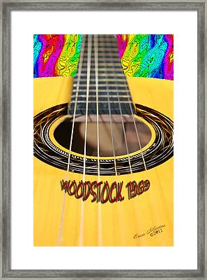 Way Back When-woodstock 1969 - Lovefest Framed Print by EricaMaxine  Price