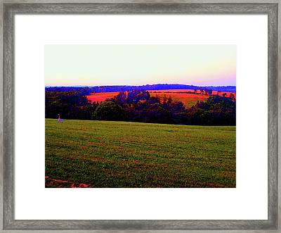 Woodstock - Farm - Yasgurs Framed Print by Susan Carella
