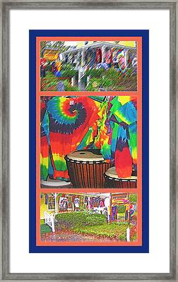 Woodstock Triptych Framed Print