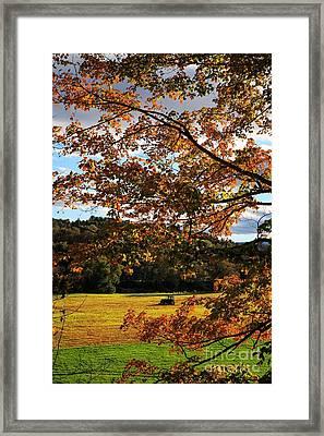 Woodstock Vermont Framed Print by Edward Fielding