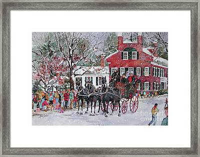 Woodstock Wassail Parade Framed Print by Sherri Crabtree