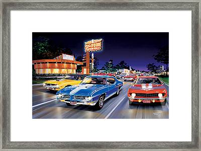 Woodward Avenue Framed Print by Bruce Kaiser