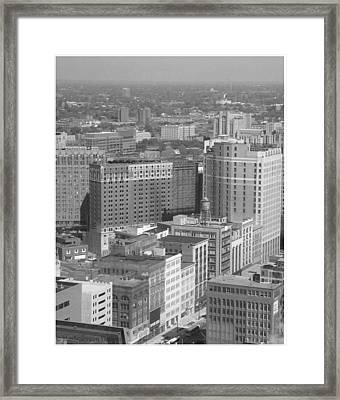 Woodward Avenue Bw Framed Print