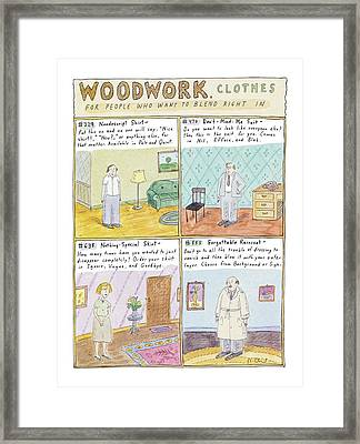 Woodwork Clothes Framed Print