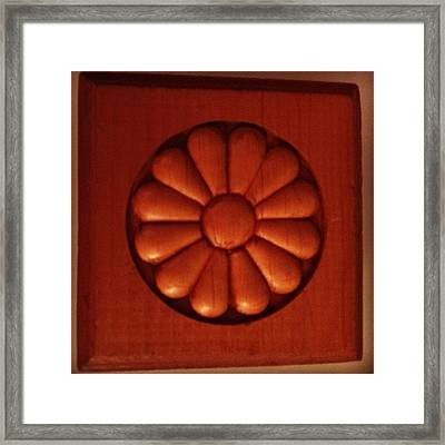 #woodwork #decorative #wood Framed Print