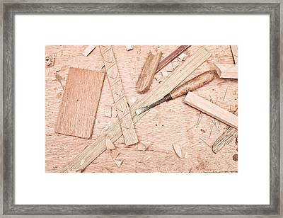 Woodwork Framed Print by Tom Gowanlock