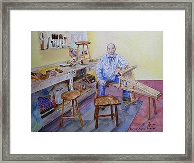 Woodworker Chair Maker Framed Print