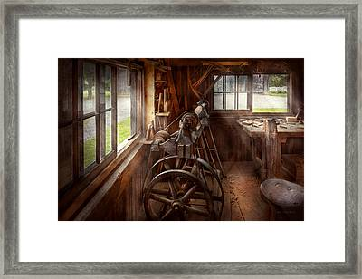 Woodworker - The Art Of Lathing Framed Print