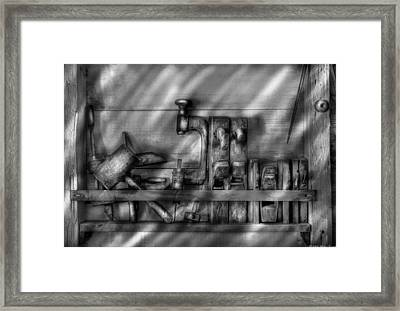 Woodworker - Wood Working Tools Framed Print by Mike Savad