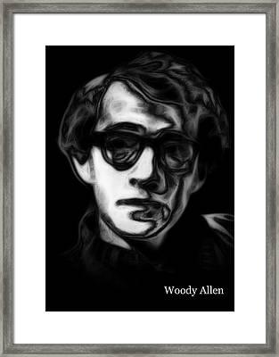 Woody Allen 2 Framed Print by Steve K