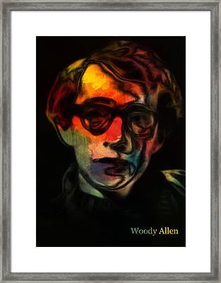 Woody Allen 3 Framed Print by Steve K