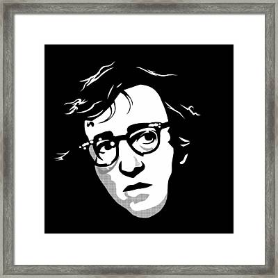 Woody Allen Framed Print by Cool Canvas
