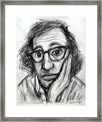 Woody Allen Framed Print by Paul Sutcliffe