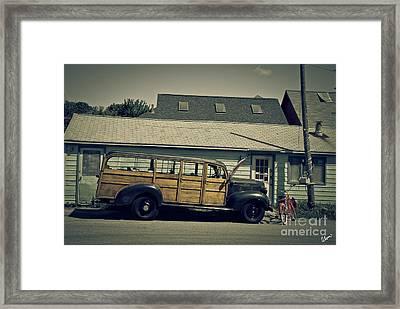 Woody Bus Framed Print by Alana Ranney