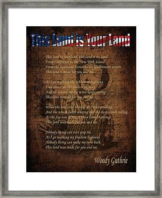 Woody Guthrie 2 Framed Print