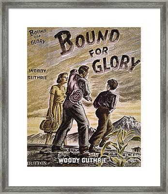 Woody Guthrie: Glory, 1943 Framed Print