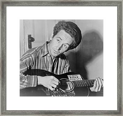 Woody Guthrie Framed Print