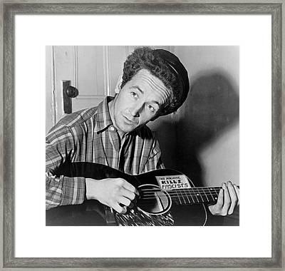 Woody Guthrie This Machine Kills Fascists Framed Print