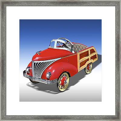Woody Peddle Car Framed Print by Mike McGlothlen