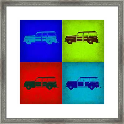 Woody Wagon Pop Art 1 Framed Print by Naxart Studio