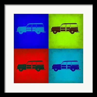 Woody Wagon Framed Prints