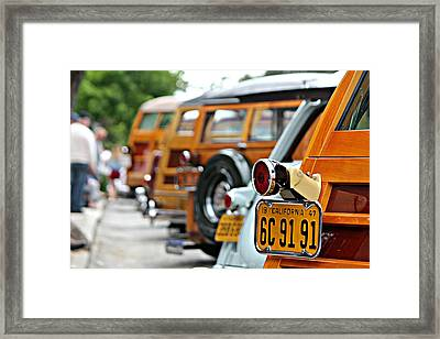 Woodys On Ocean Avenue  Framed Print
