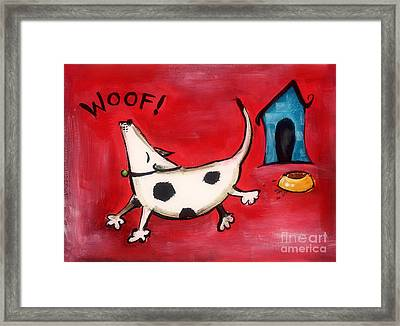 Woof Framed Print by Diane Smith