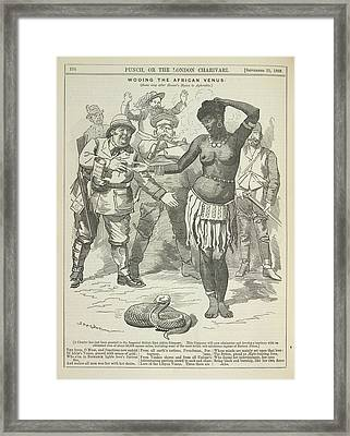 Wooing The African Venus Framed Print