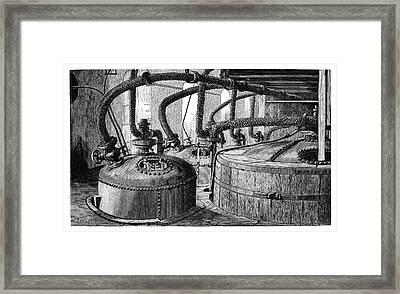 Wool Bleaching Framed Print