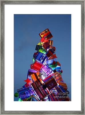 Wool Christmas Tree At Sunset Framed Print by James Brunker