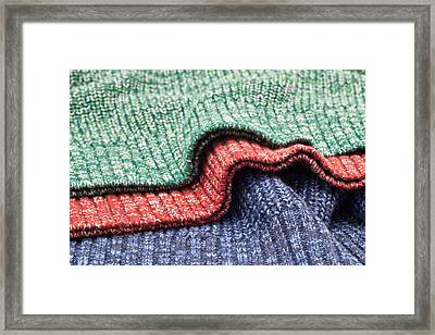 Wool Colors Framed Print by Tom Gowanlock