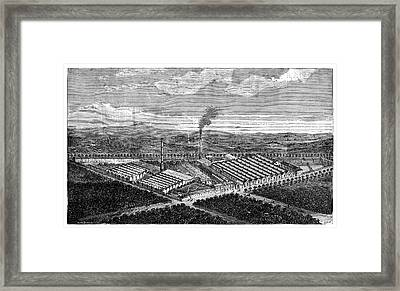 Wool Combing Factory Framed Print