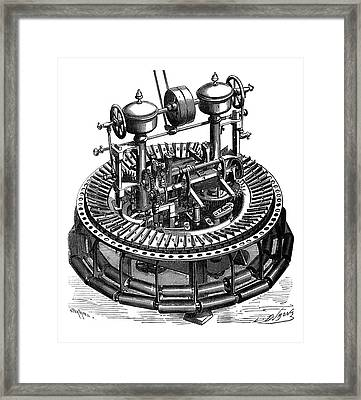 Wool Combing Machine Framed Print by Science Photo Library
