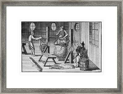Wool Industry Framed Print by Science Photo Library